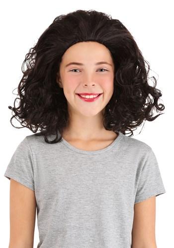 Girls Bouncy Brown Curly Wig