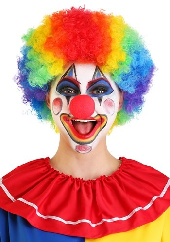 Jumbo Rainbow Clown Wig By: Forum Novelties, Inc for the 2015 Costume season.