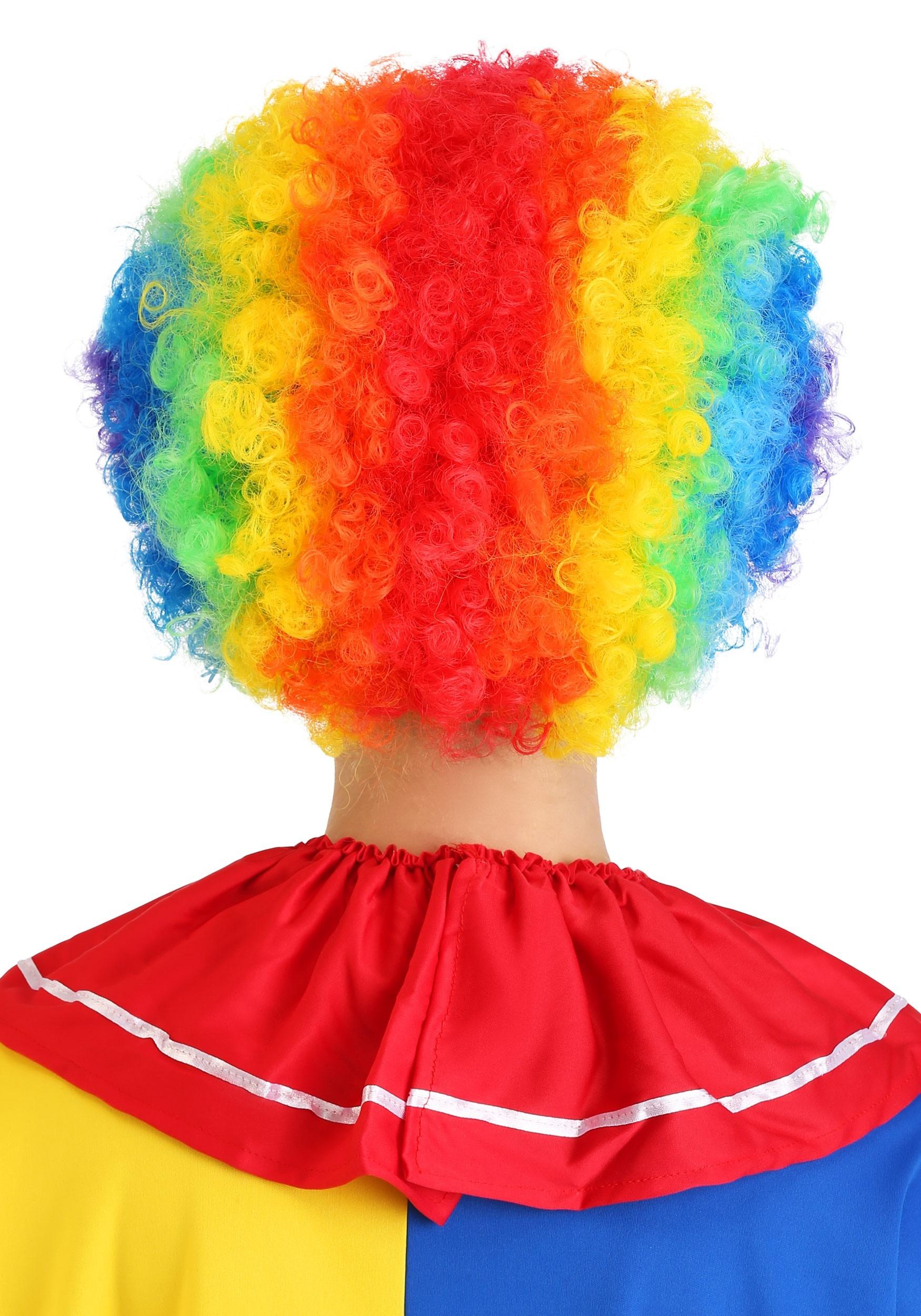 Rainbow Clown Wig Party Costume Clown Wig