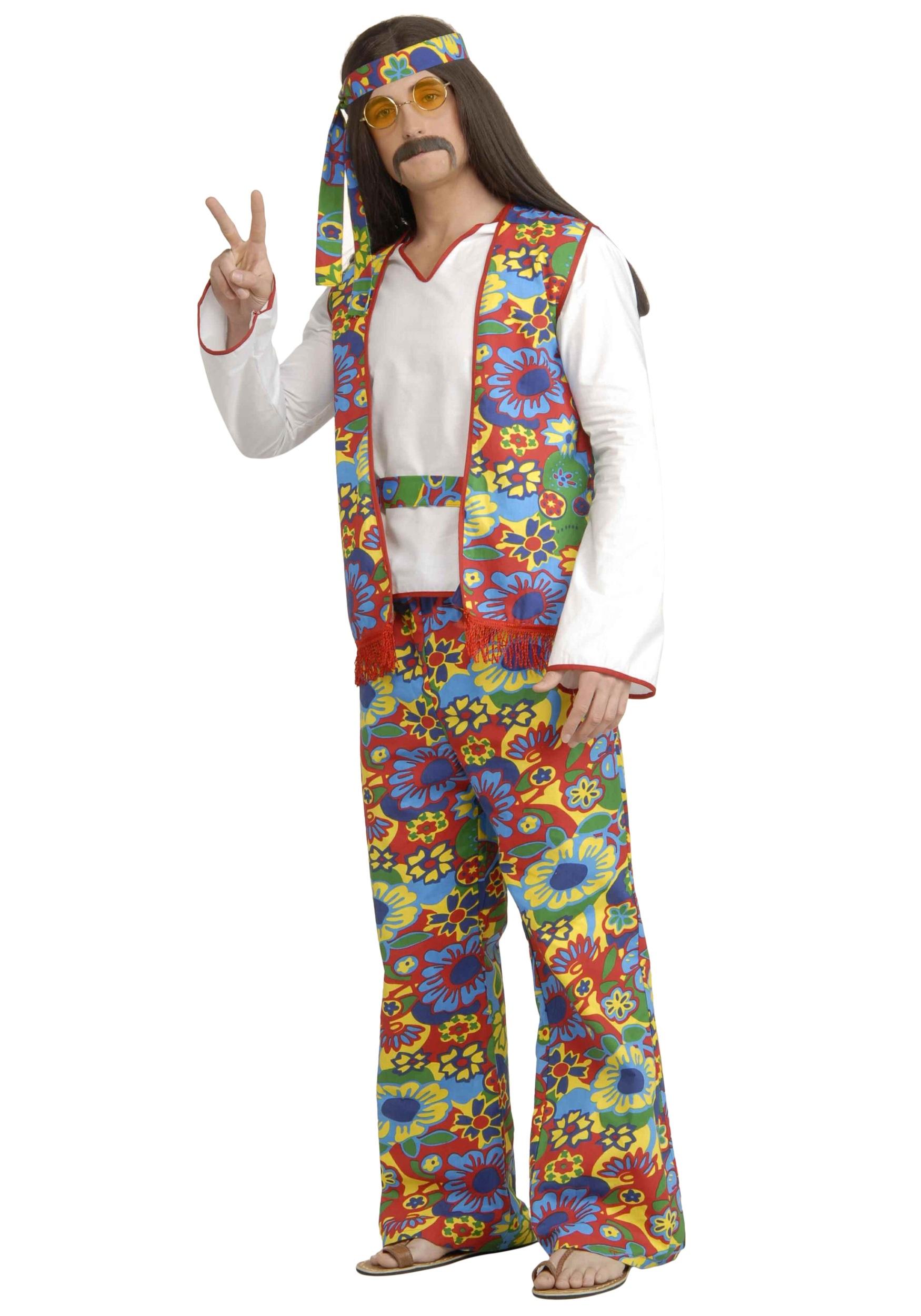 Hippie Halloween Costumes Diy Men Plus Size Men's Hippie Costume
