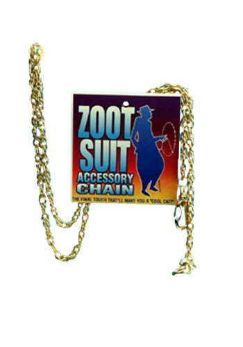 Gold Zoot Suit Chain By: Forum Novelties, Inc for the 2015 Costume season.