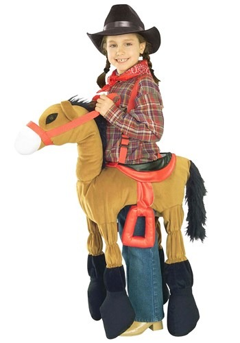 Ride In Brown Horse Kids Costume
