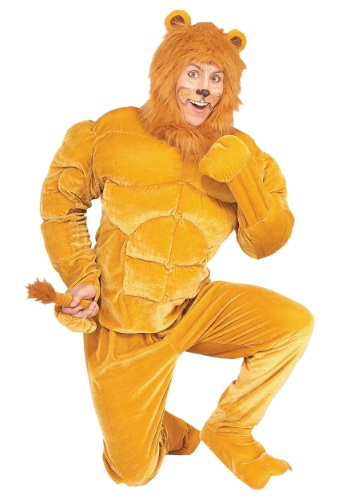 Click Here to buy Macho Cowardly Lion Costume from HalloweenCostumes, USA Funds & Shipping