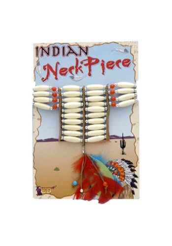 Beaded Indian Necklace w/ Feathers
