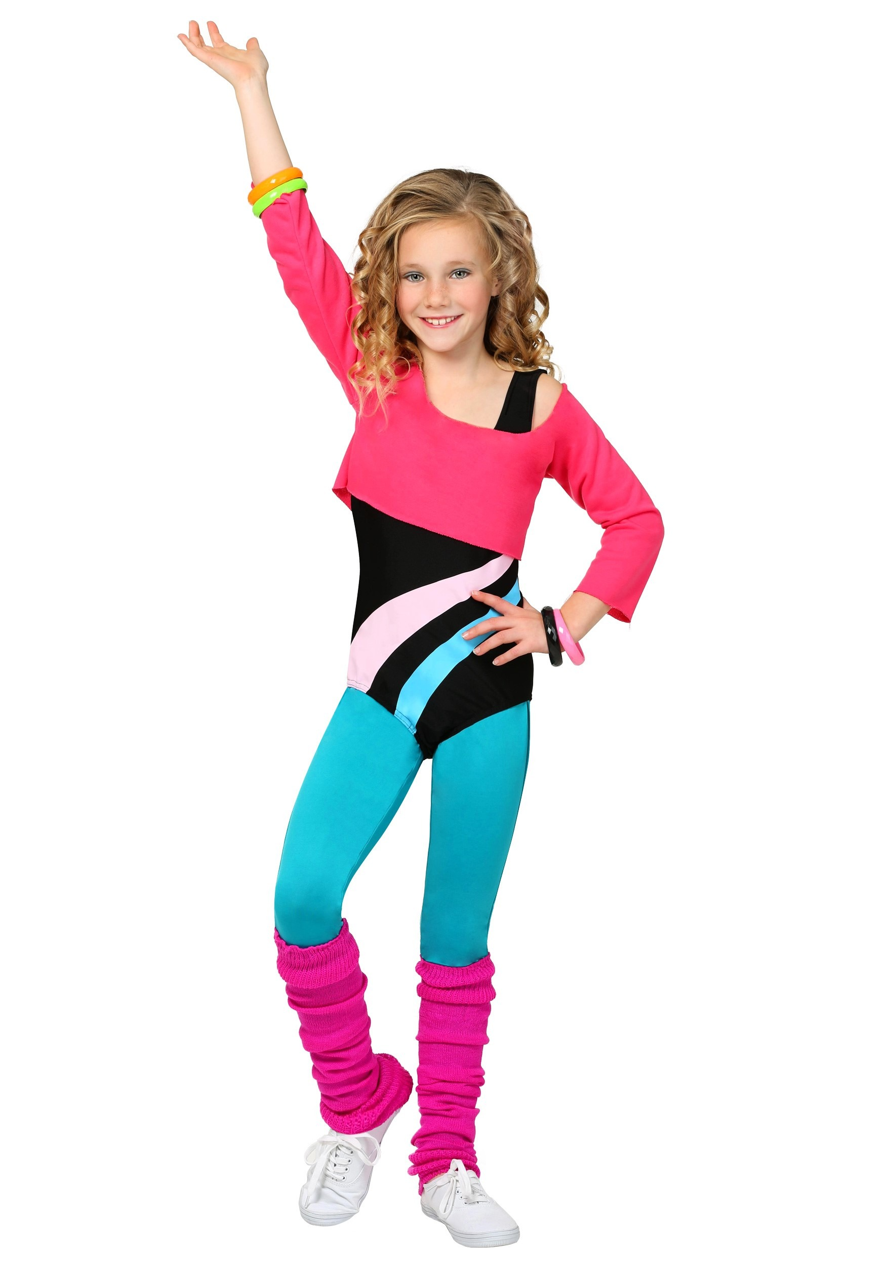 Child 80u0027s Workout Girl Costume  sc 1 st  Halloween Costumes & 1980s Costumes u0026 Outfits for Adults and Kids