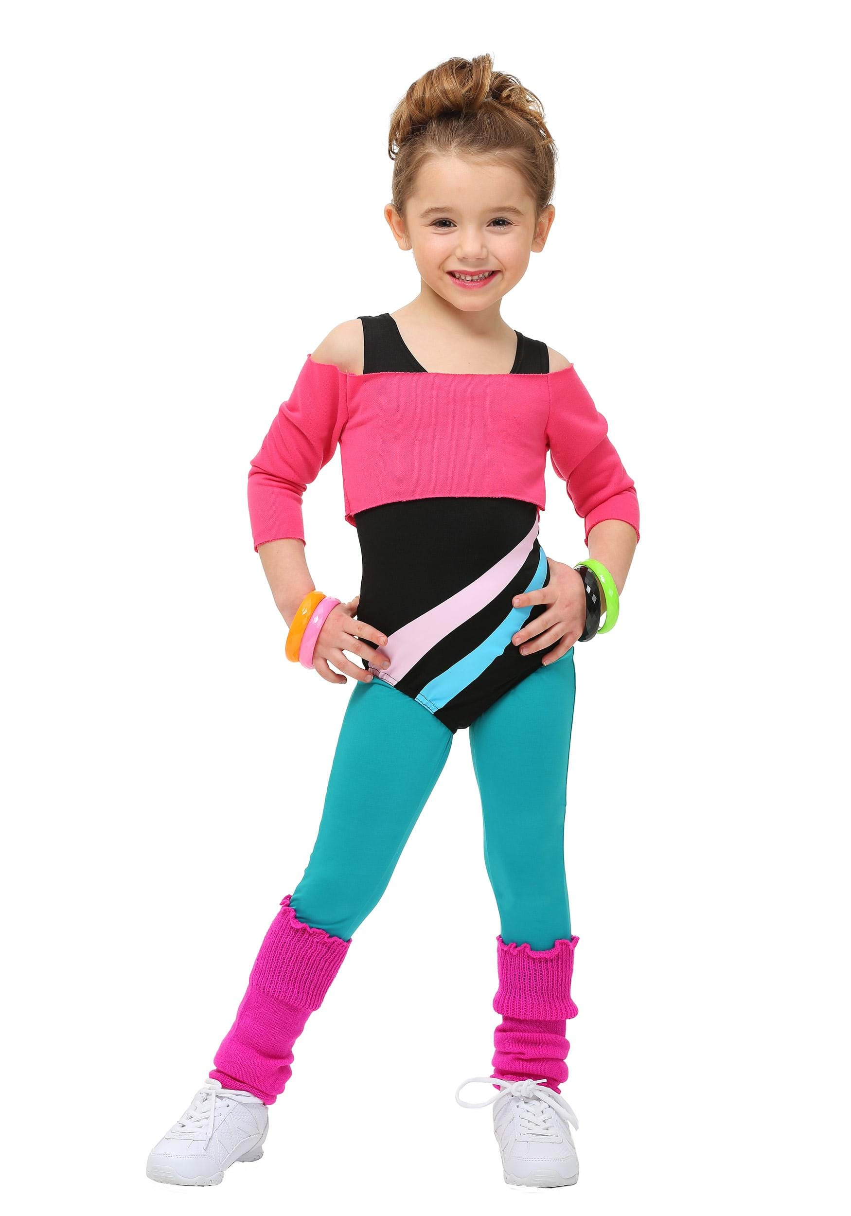 Toddler 80 39 s workout girl costume for Children s halloween costume ideas
