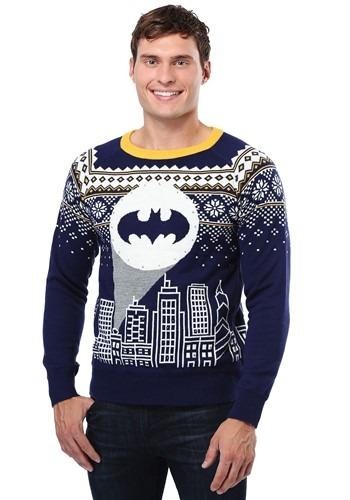 Batman Bat Signal Ugly Christmas Sweater