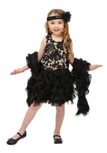 Click Here to buy Toddler Dazzling Flapper Costume from HalloweenCostumes, USA Funds & Shipping