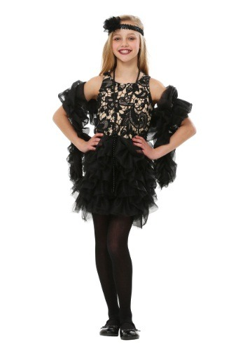 Click Here to buy Kids Dazzling Flapper Costume from HalloweenCostumes, USA Funds & Shipping