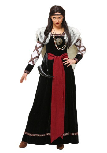 Women's Dark Viking Dress Costume