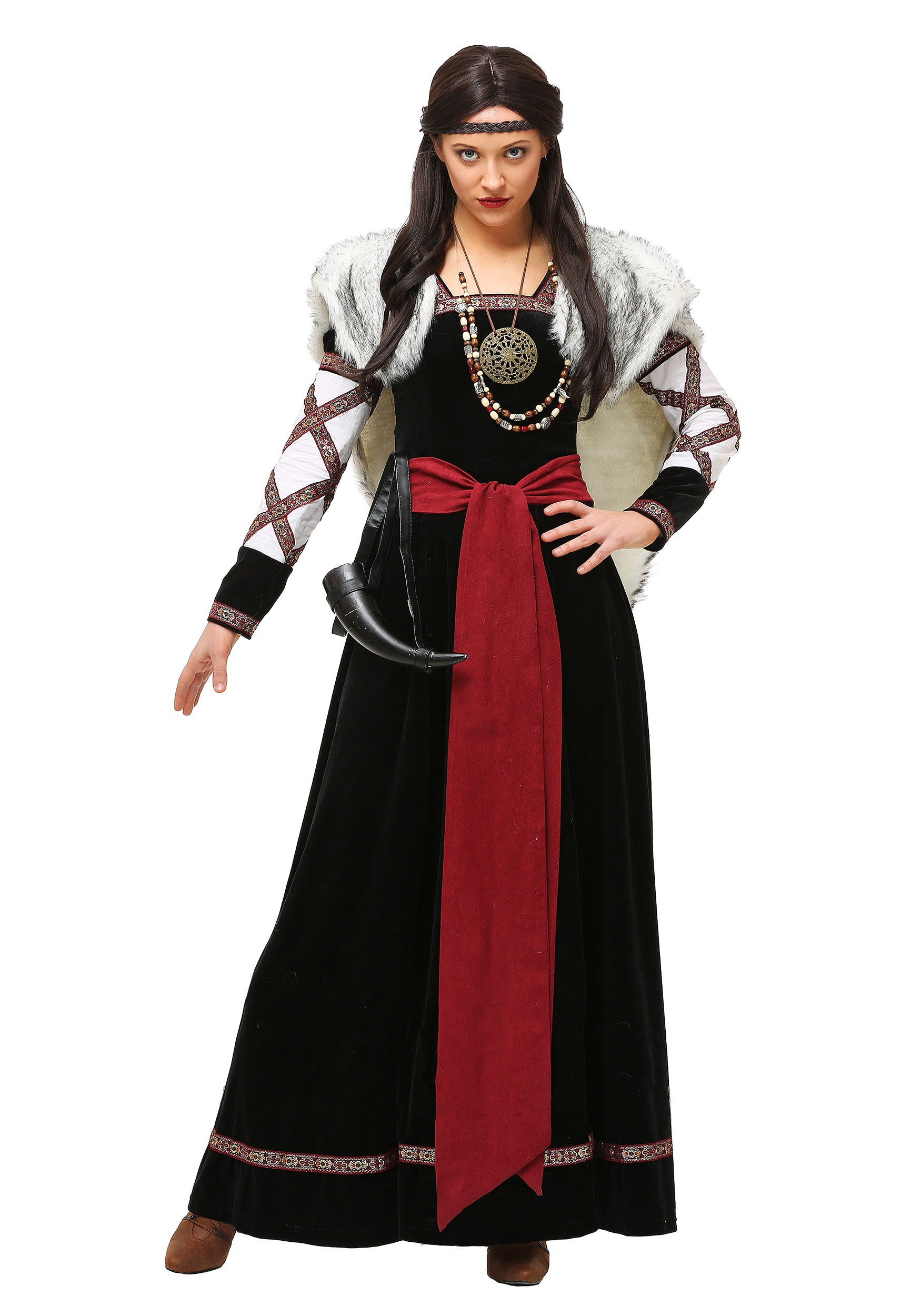 Women's Plus Size Dark Viking Dress