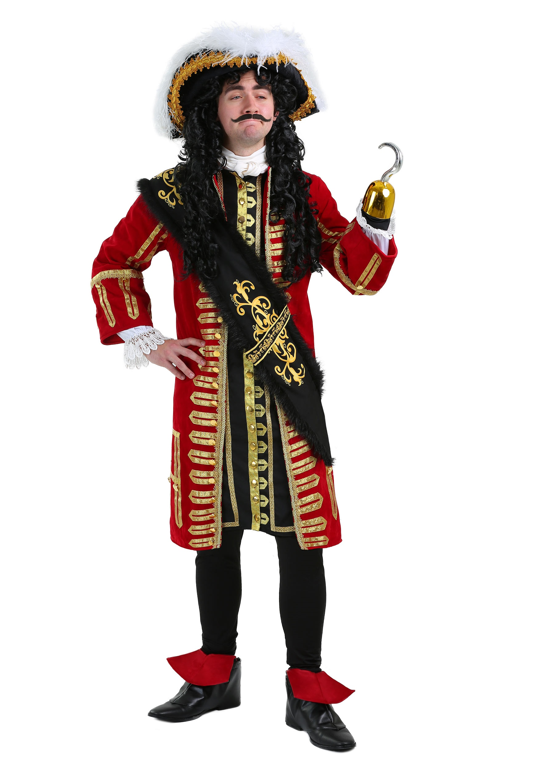 Elite Captain Hook Pirate Costume 8705e216338d