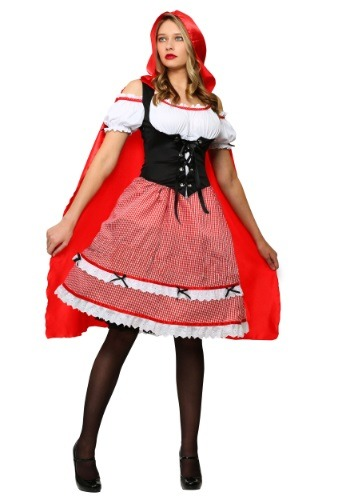 Red Riding Hood Knee Length Dress Costume for Women
