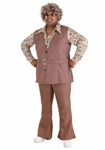 [Men's Plus Size 70's Vest Costume] (70s Costumes Men)
