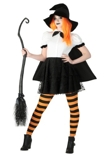 Women's Punky Witch Plus Size Costume