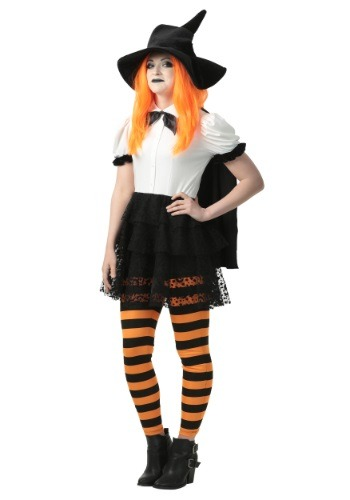 Womens Punky Witch Plus Size Costume