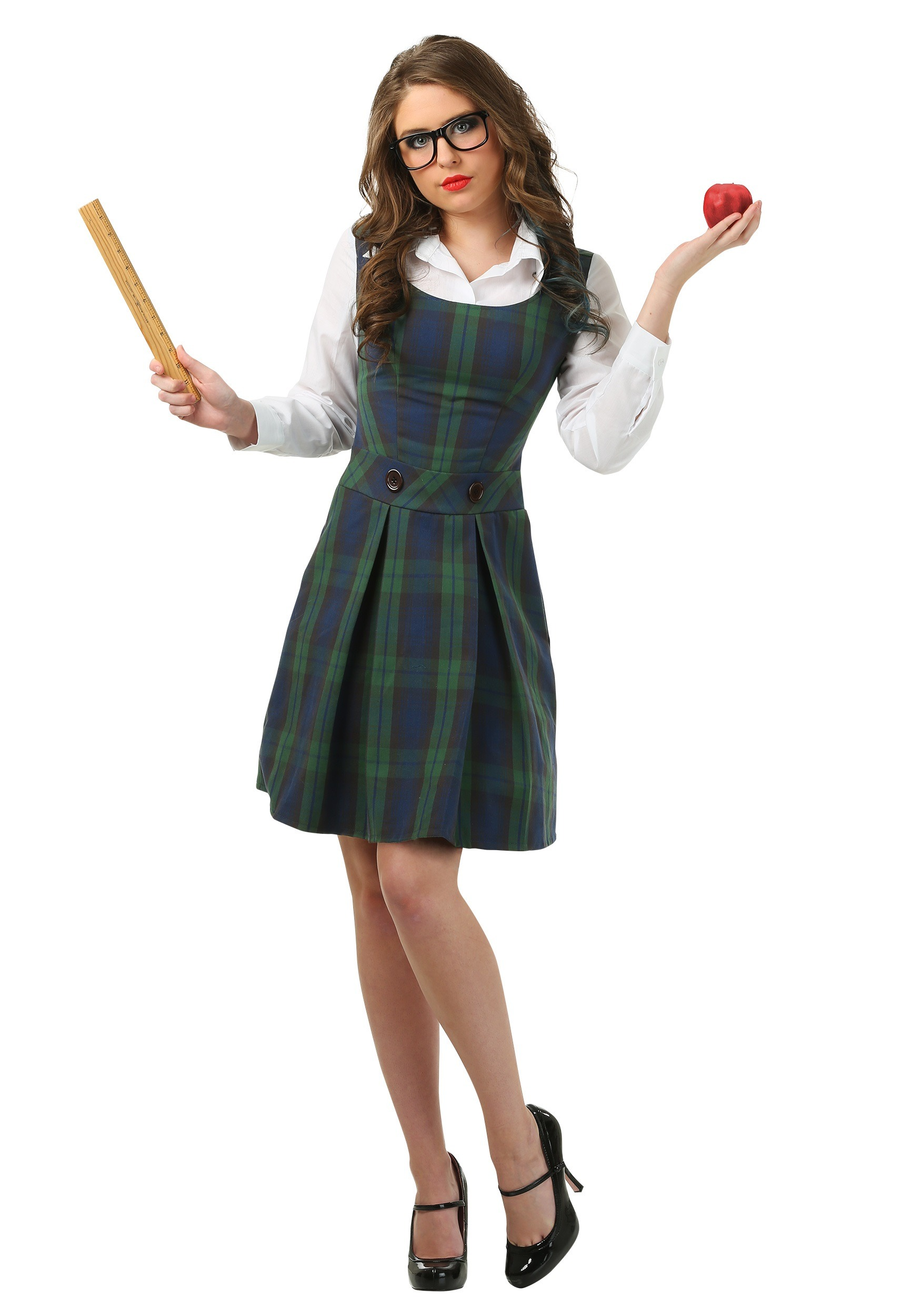 Prep school girl outfit-6618