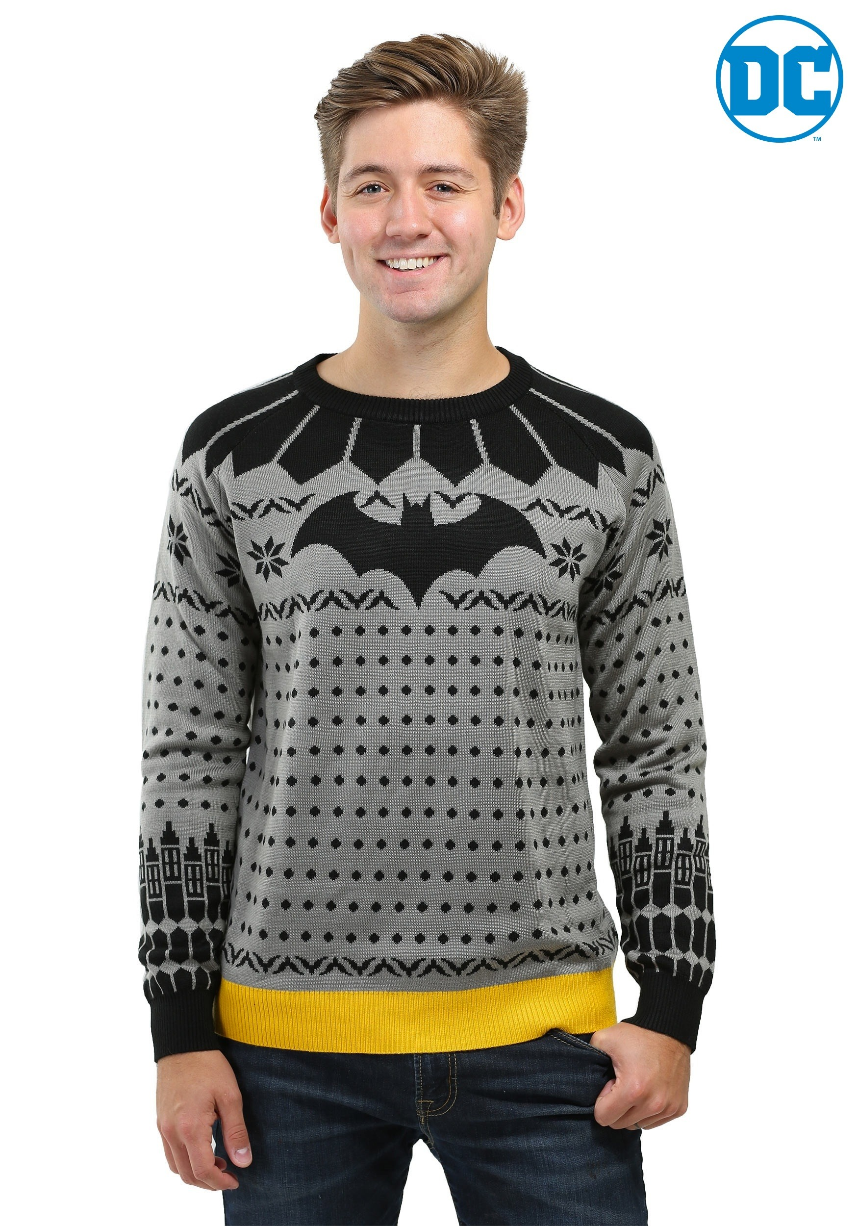 3x Ugly Christmas Sweater.Classic Batman Ugly Christmas Sweater