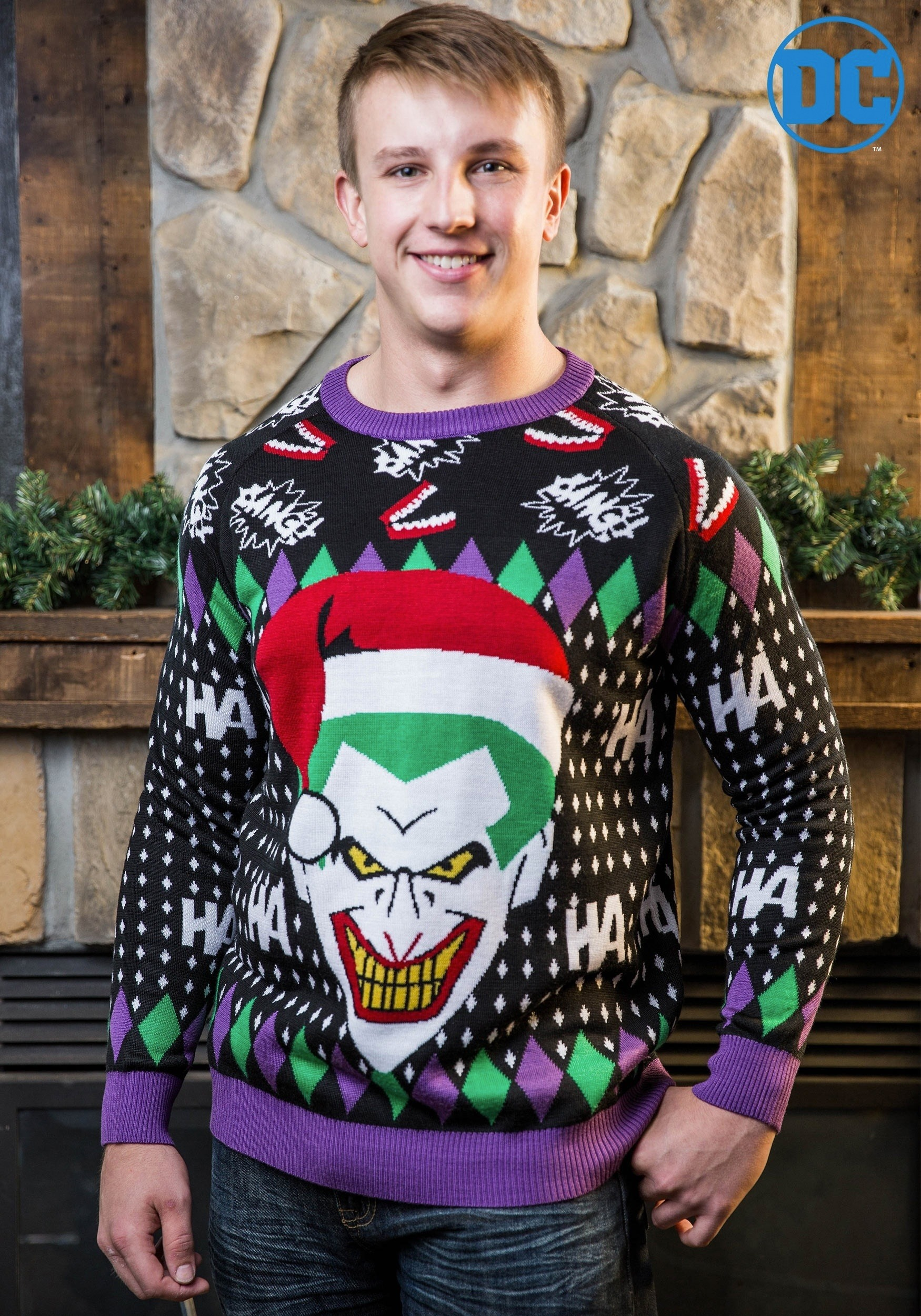 Joker Santa Ugly Christmas Sweater