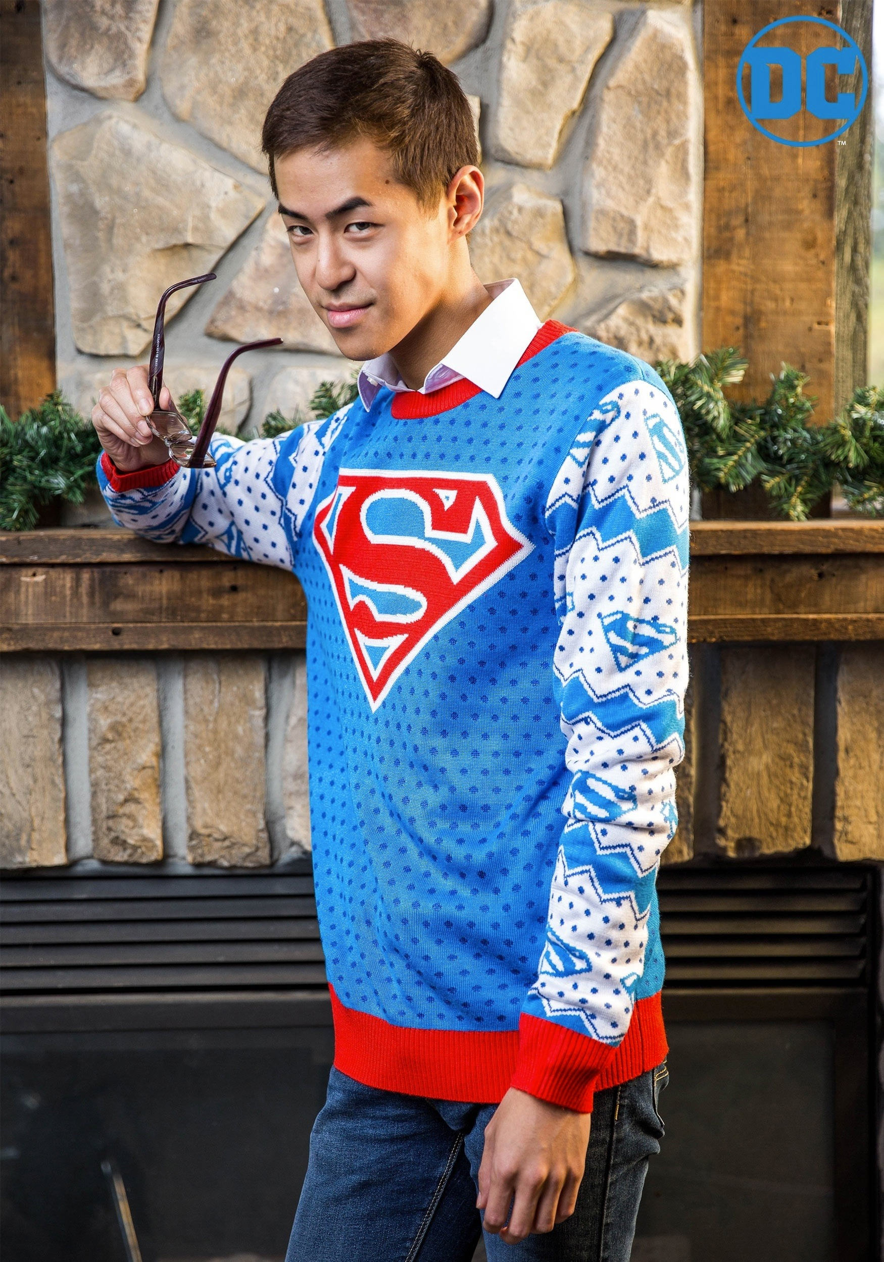 Superman Classic Ugly Christmas Sweater For Men