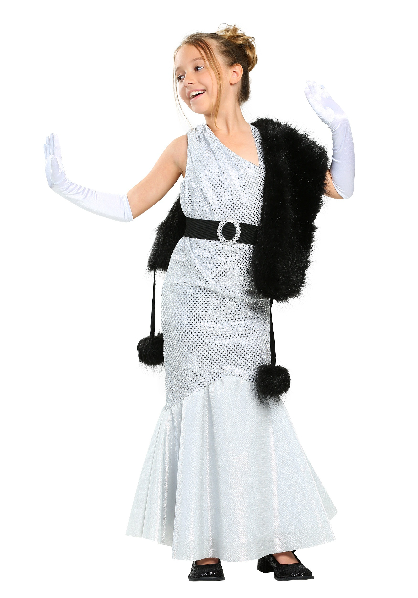 Girls Silver Movie Star Costume  sc 1 st  Halloween Costumes & Celebrity Costumes - Madonna Michael Jackson Lady Gaga Costume