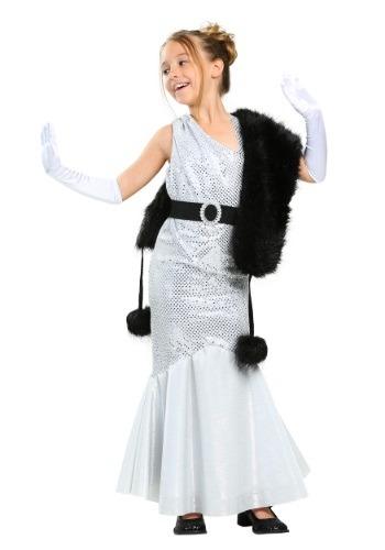 little girls silver flapper Costume