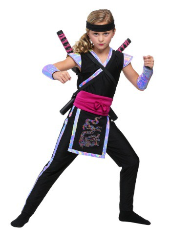 Click Here to buy Rainbow Ninja Girls Costume from HalloweenCostumes, USA Funds & Shipping
