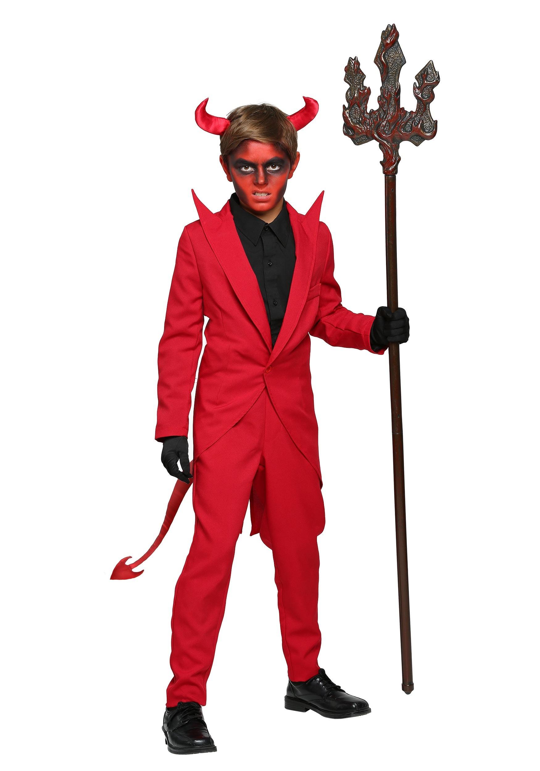 red devil suit costume for kids