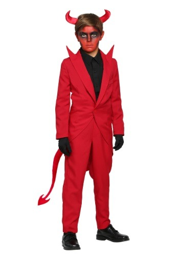 Click Here to buy Kids Red Suit Devil Costume from HalloweenCostumes, USA Funds & Shipping