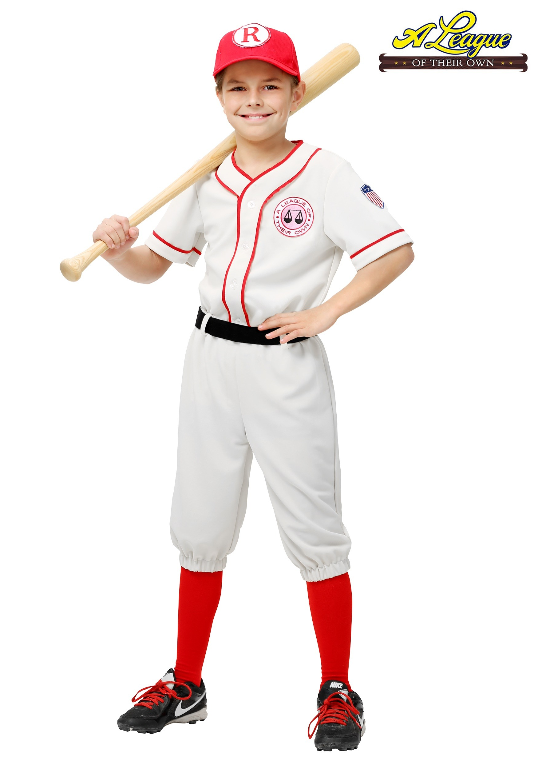 Sports halloween costumes uniforms halloweencostumes a league of their own child jimmy costume solutioingenieria Image collections