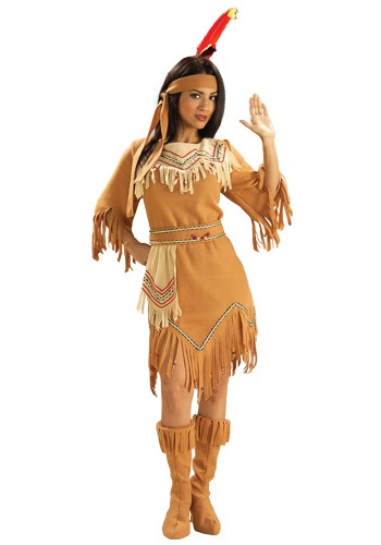 Click Here to buy Native American Maiden Costume from HalloweenCostumes, USA Funds & Shipping