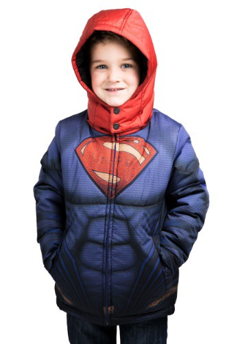 Kids Superman Puffer Super Hero Jacket  FUN9059CH