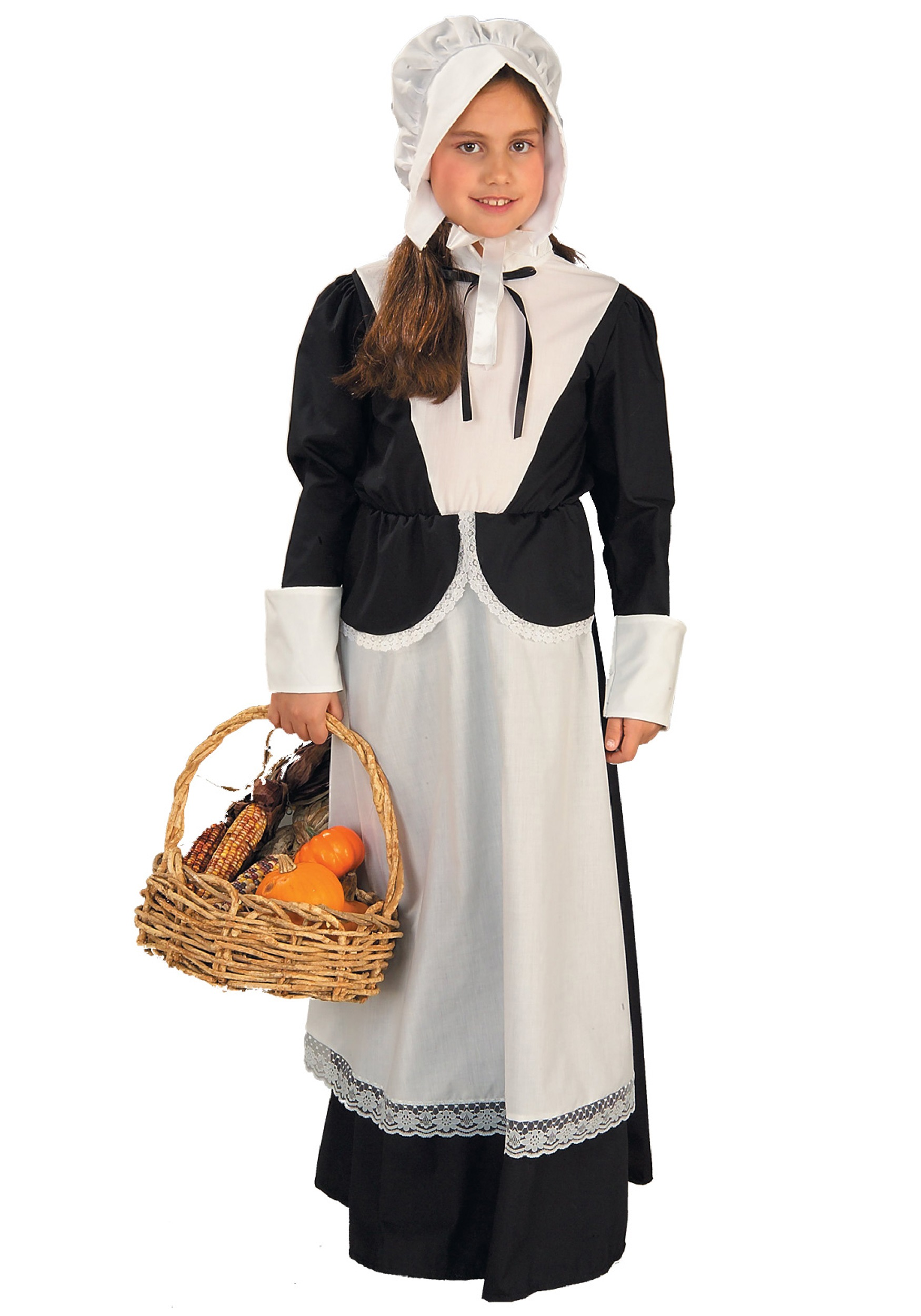 Girls Pilgrim Costume  sc 1 st  Halloween Costumes & Thanksgiving Costumes - Adult Child Pilgrim and Indian Costume