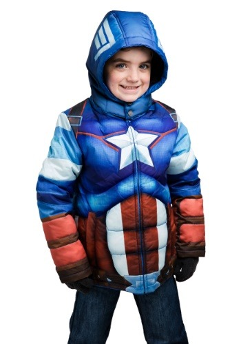 Image  Kids Captain America Puffer Jacket