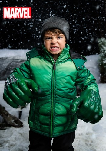 5e73034c8fb Kids Incredible Hulk Puffer Jacket