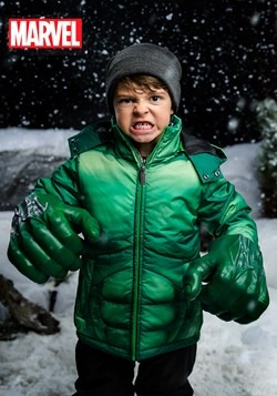 Kids Incredible Hulk Puffer Jacket
