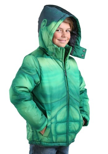 Image  Kids Incredible Hulk Puffer Jacket