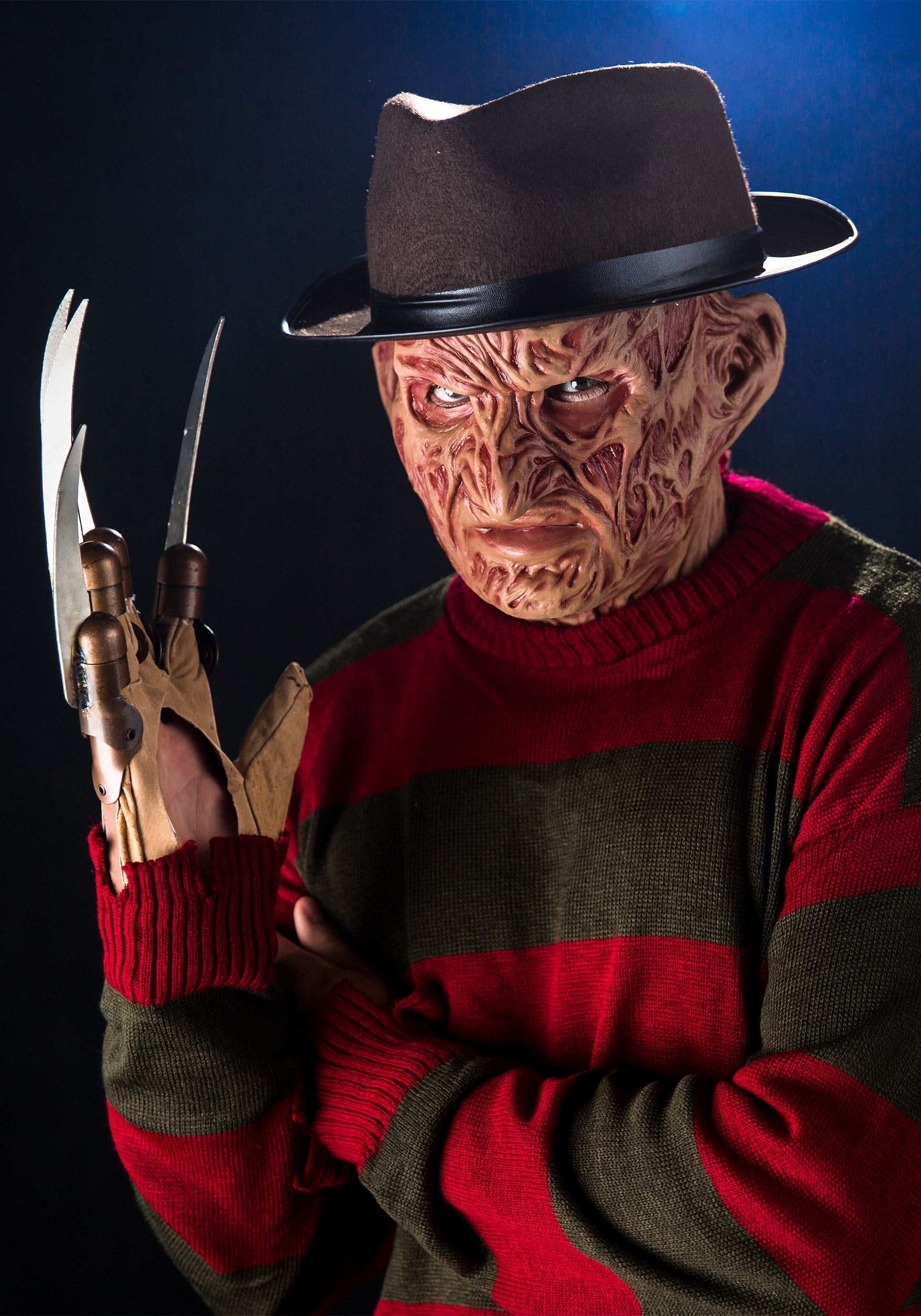 Halloween spider decorations - Authentic Freddy Krueger Collector S Mask