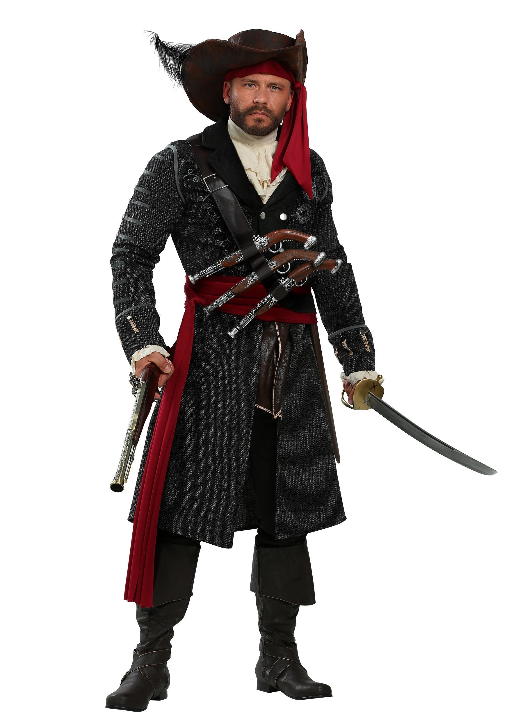 blackbeard costume for plus size men