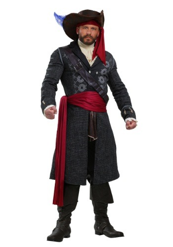 Blackbeard Costume for Plus Size Men 2X 3X 4X 5X