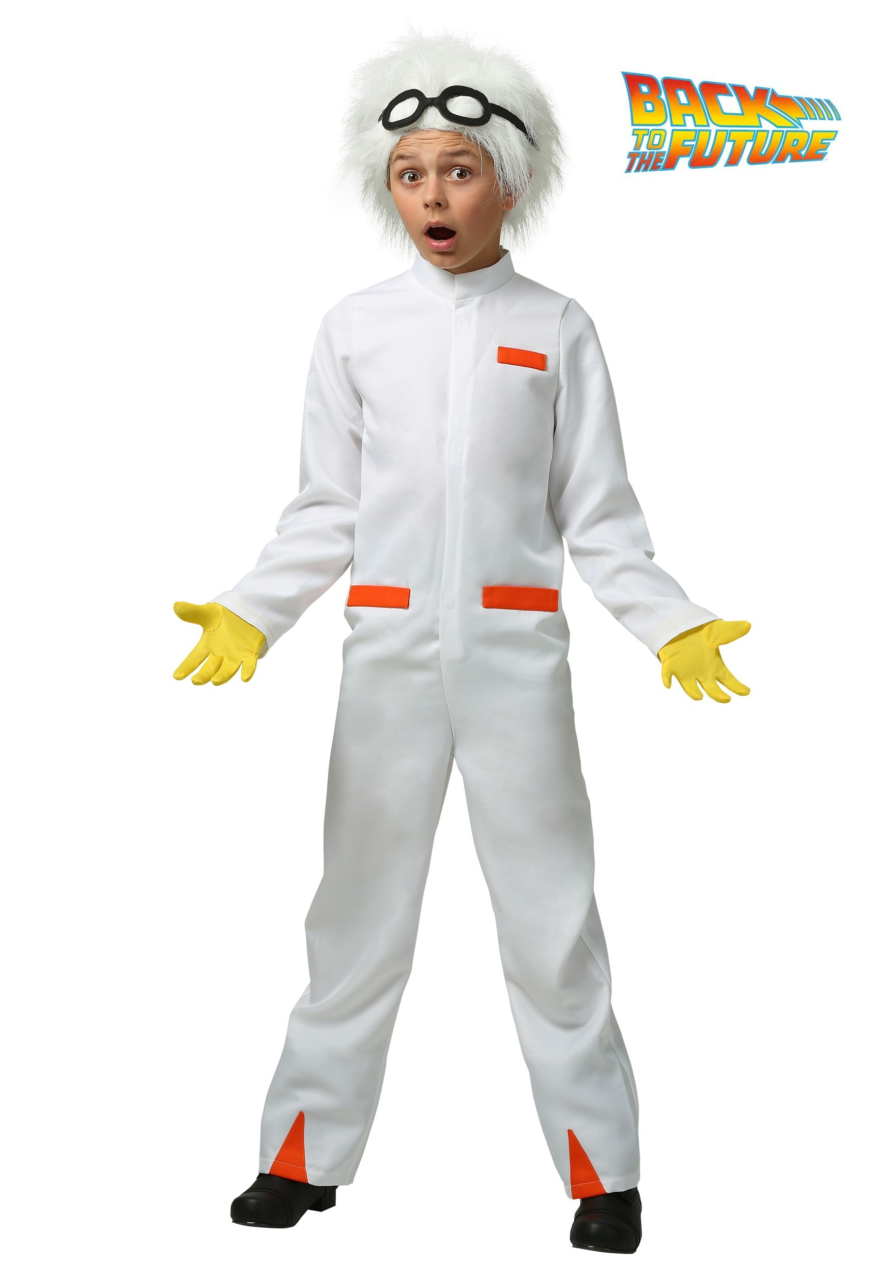 Fabuleux Back to the Future Doc Brown Costume for Kids FP24
