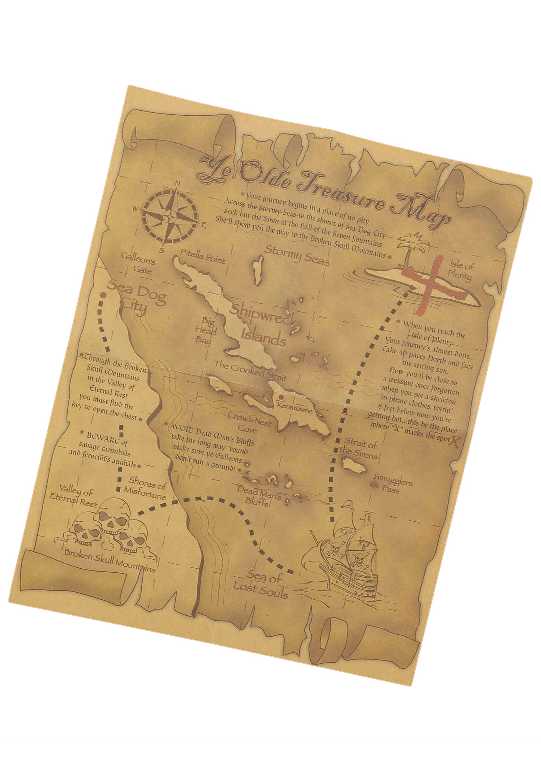 Treasure Map Accessory on a map of life, a map of love, a map of home, a map of cascade, a map of roosevelt, a map of jupiter, a map of sahara, a map of time, a map of ocean, a map of odyssey,