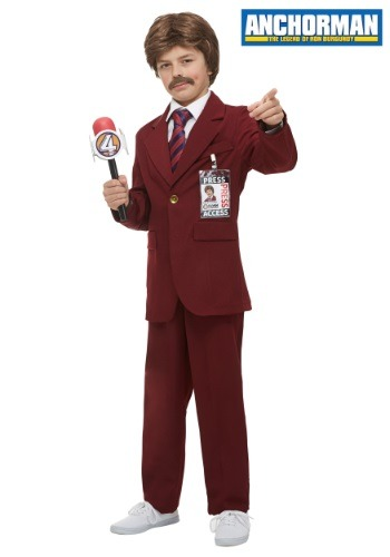 Anchorman Ron Burgundy Costume for kids FUN2275CH-L