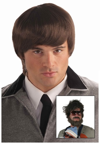 Click Here to buy 60s Mod Brown Mens Wig from HalloweenCostumes, CDN Funds