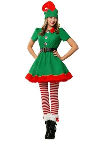 Click Here to buy Womens Holiday Elf Costume from HalloweenCostumes, USA Funds & Shipping