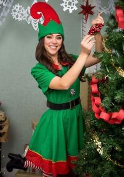 Women's Holiday Elf Costume Alt 9