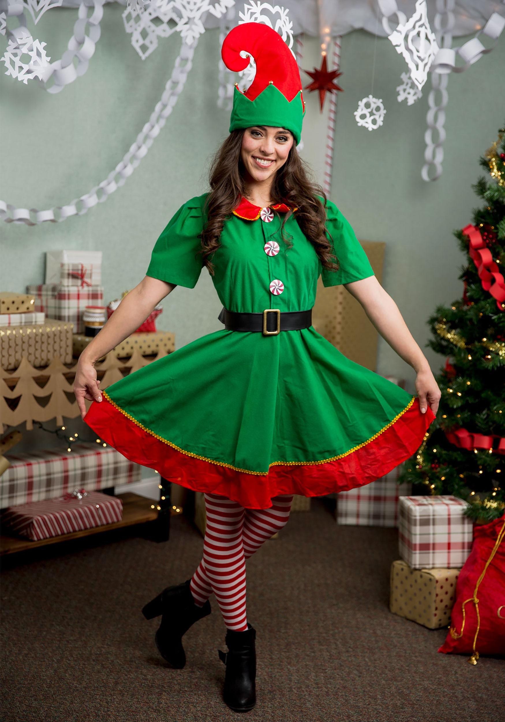 women u0026 39 s holiday elf plus size costume