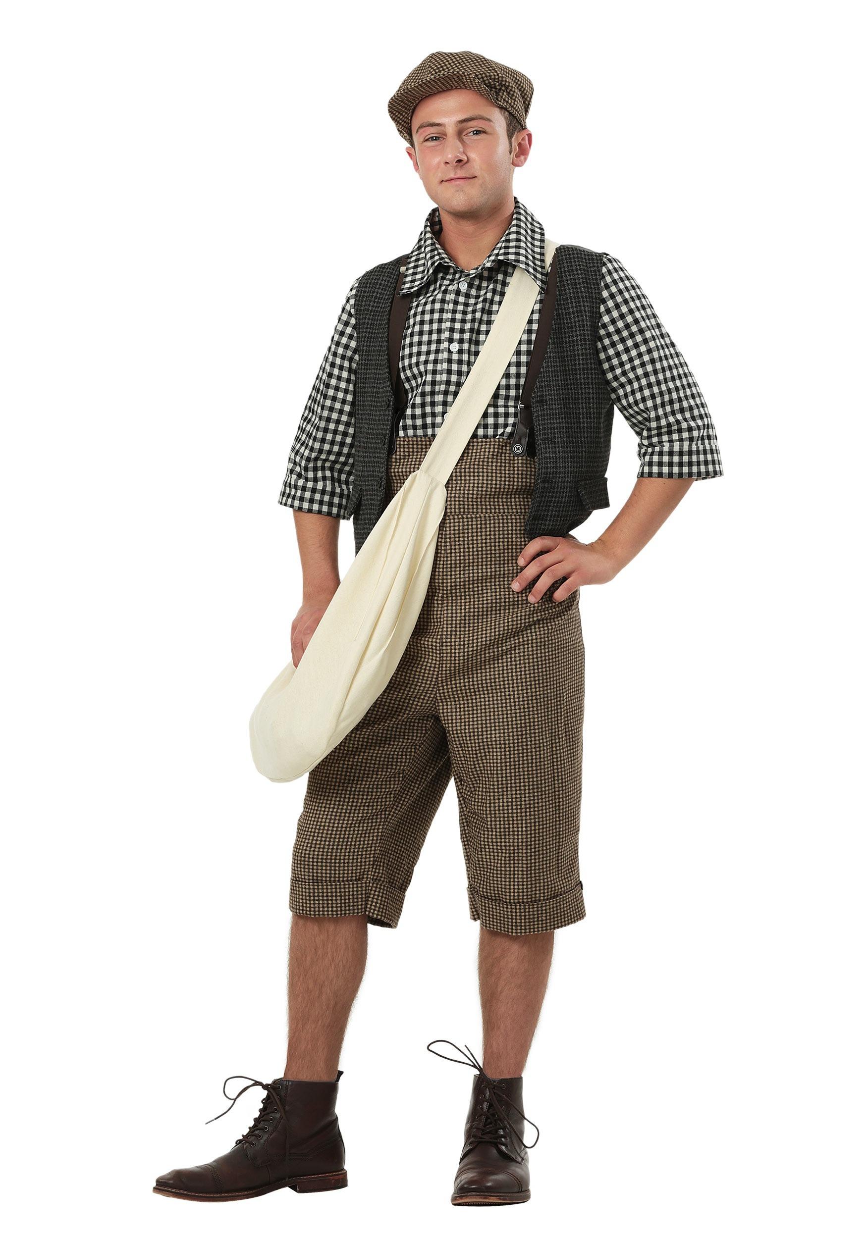 Adult 20's Newsie Costume
