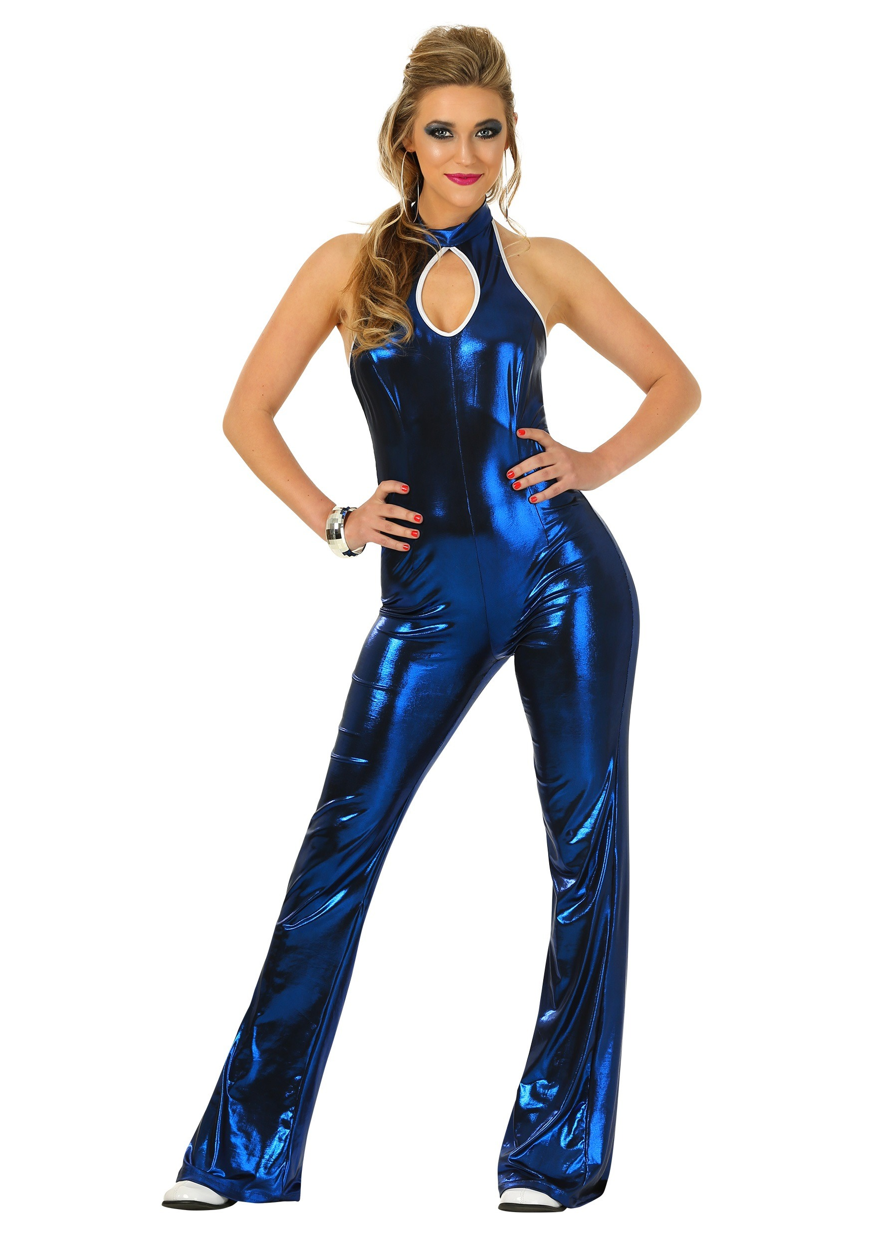 70 S Scarves: Womens 70's Disco Fever Jumpsuit Costume