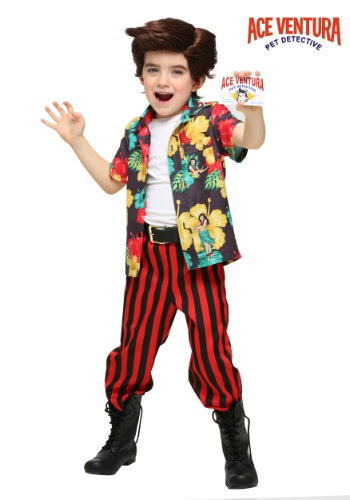 Ace Ventura Costume with Wig for Toddlers